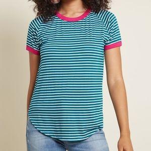 New Modcloth Flatter  Up!  Jersey  T-Shirt